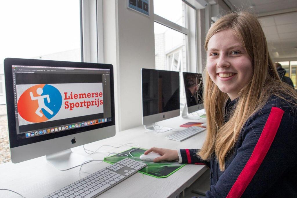 Anique ontwerpt beeldmerk Liemerse Sportprijs
